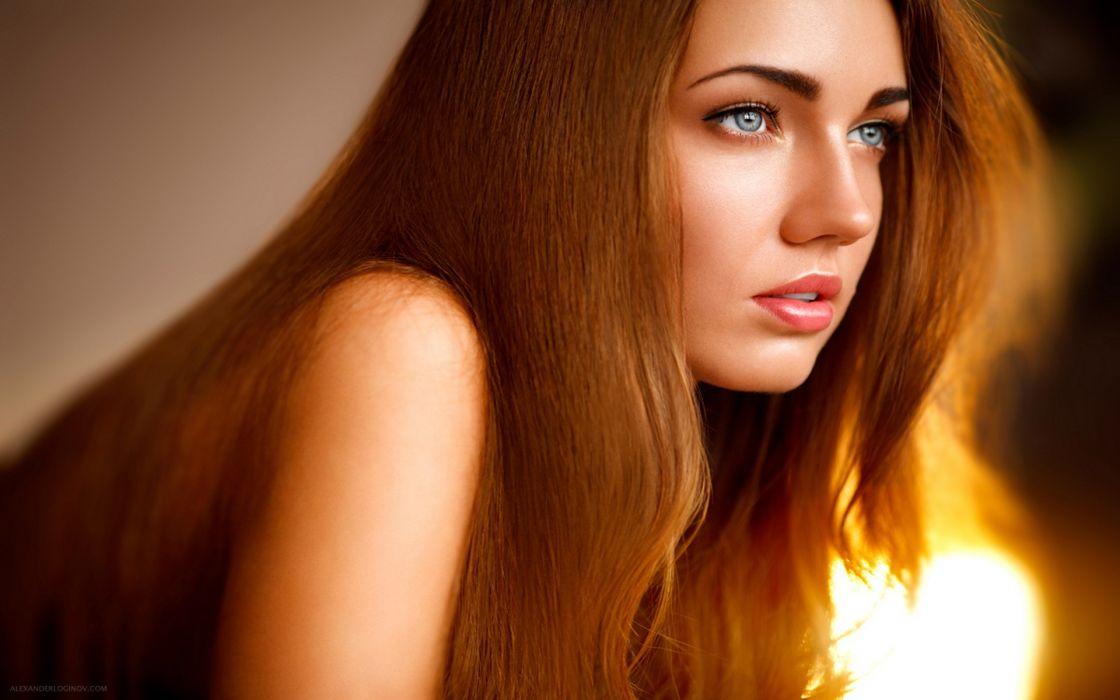 Women blue eyes redheads alexander shoulders marina wallpaper