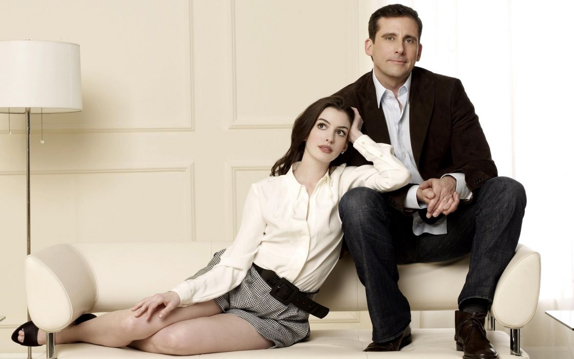 Anne hathaway people celebrity get smart steve carell wallpaper