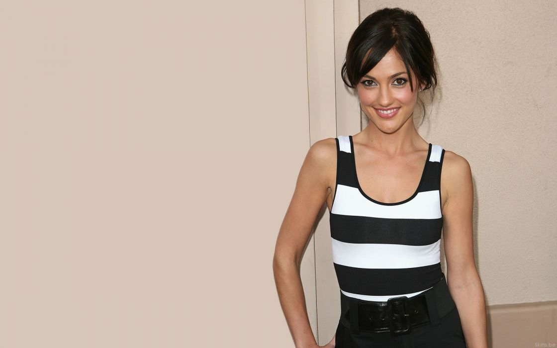 Brunettes women actress celebrity minka kelly smiling wallpaper