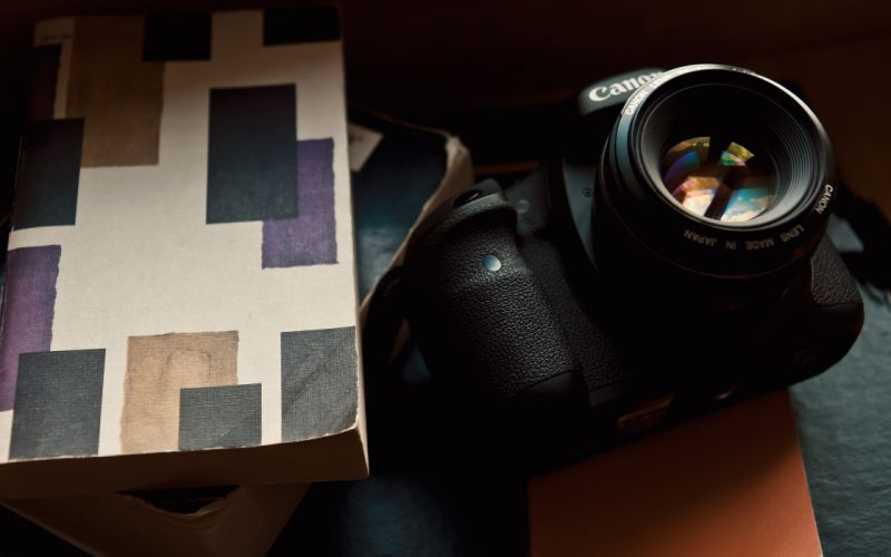 Cameras books canon objects wallpaper