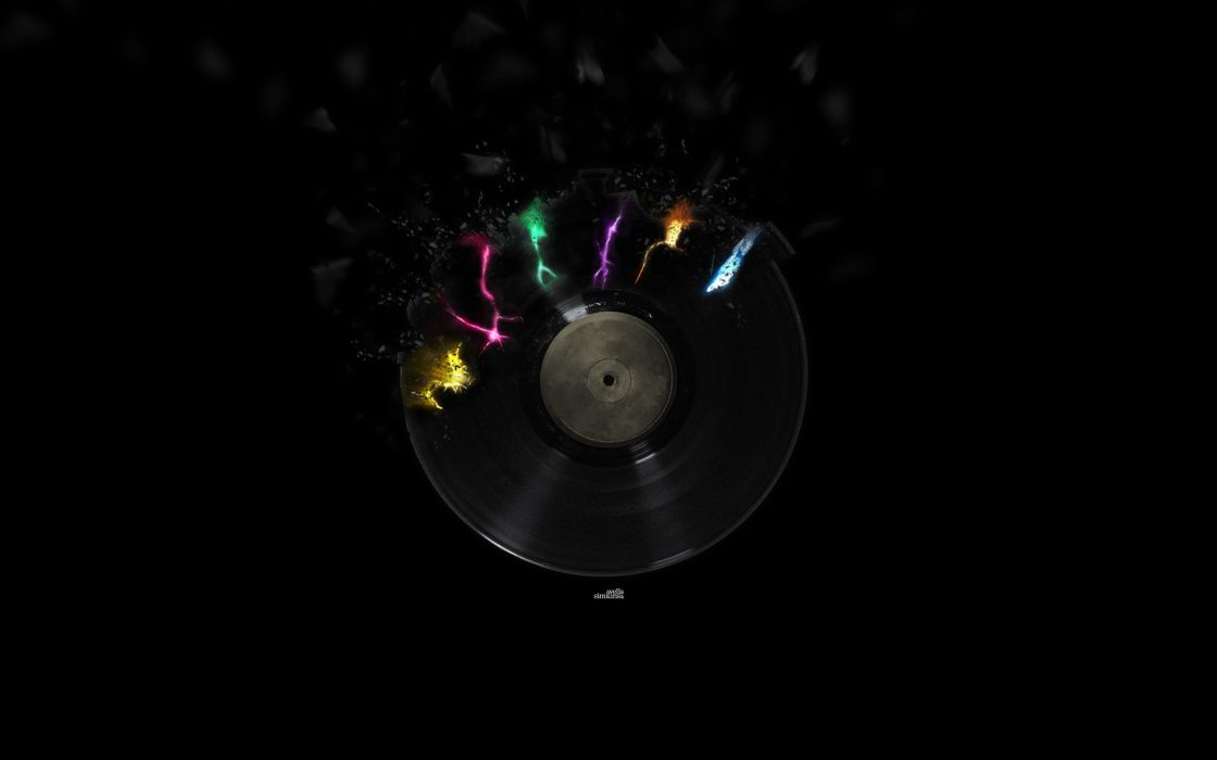 Multicolor musical wallpaper