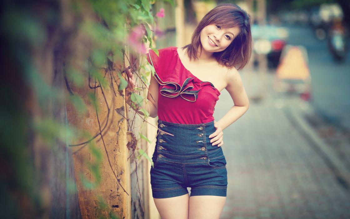 Women viet nam asians depth of field wallpaper