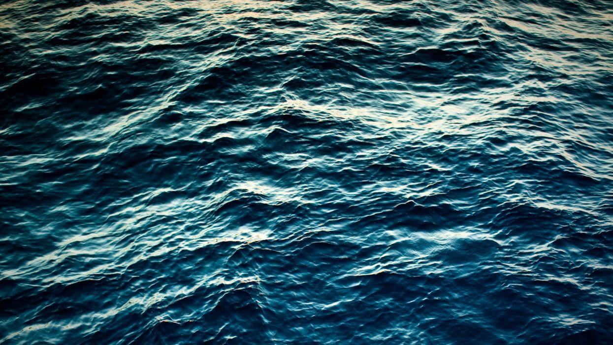 Water ocean seas blue morpho wallpaper