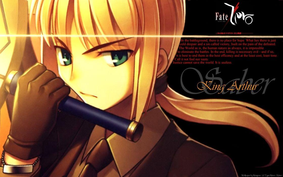 Saber  fatezero fate series wallpaper