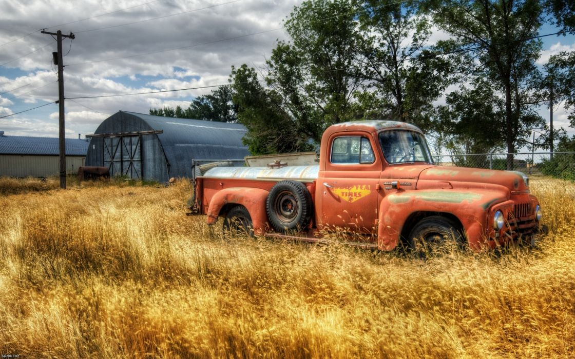 Trucks rust vehicles hdr photography classic cars wallpaper