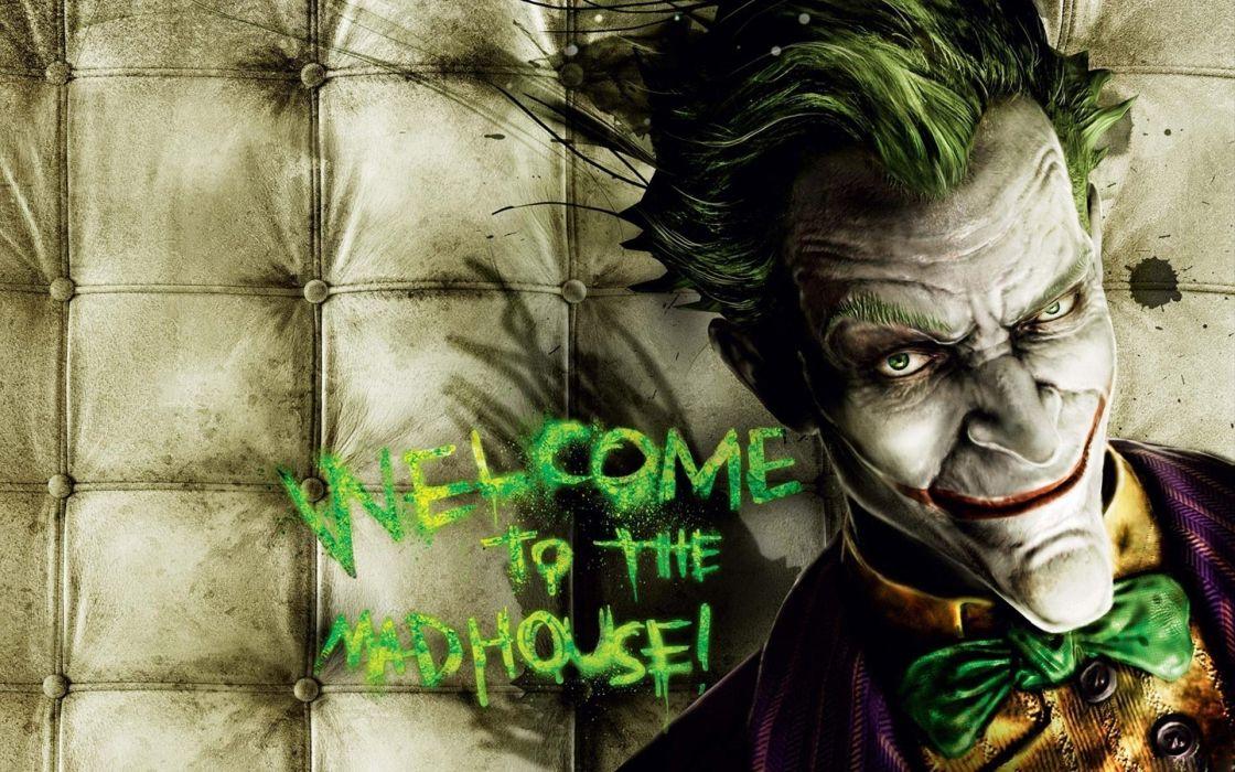 Video games the joker batman arkham asylum wallpaper