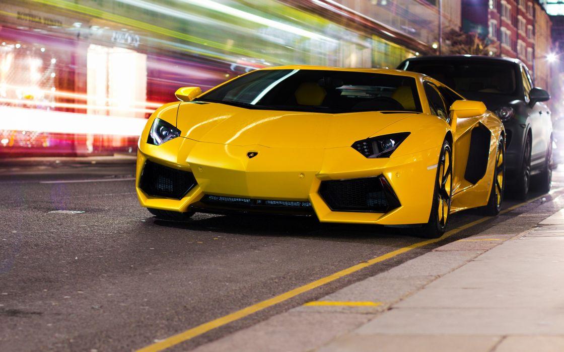 Streets cars lamborghini vehicles lamborghini aventador sport cars yellow cars wallpaper
