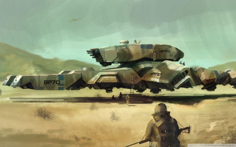 Military fantasy art vehicles airship wallpaper