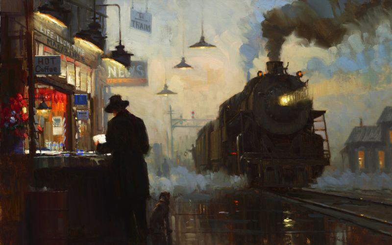 Steam engine wallpaper