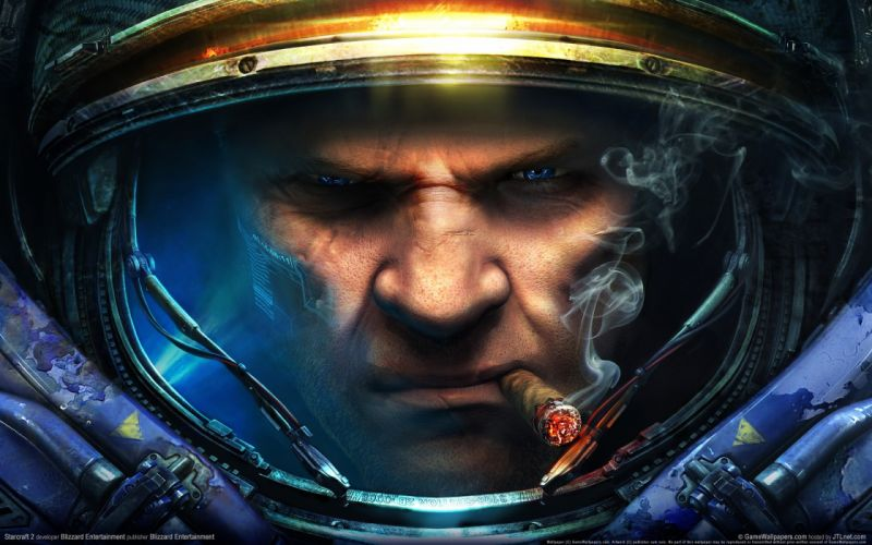 Video games smoke cigars starcraft ii tychus findlay wallpaper