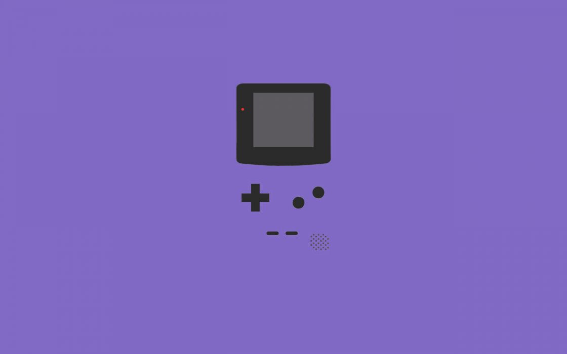 Minimalistic vector gameboy lavender wallpaper