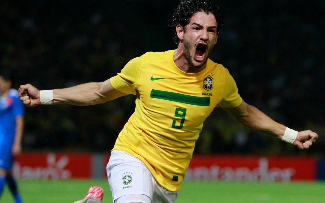 Sports soccer brazil alexandre pato football stars wallpaper