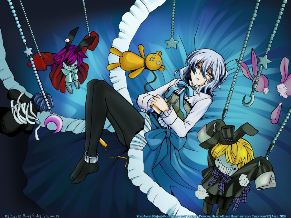 Blue pandora hearts anime dolls chains echo (pandora hearts) anime girls wallpaper
