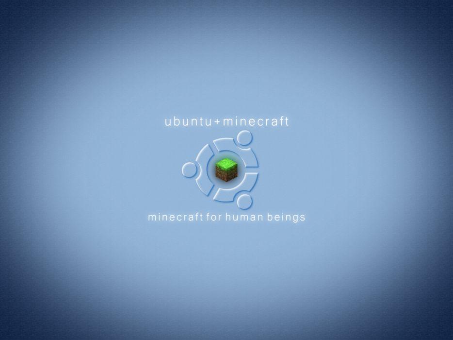 Ubuntu minecraft wallpaper