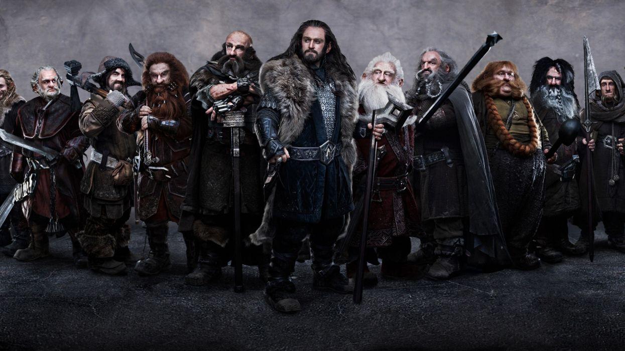 Dwarfs the hobbit dori thorin oakenshield balin dwalin bifur oin gloin ori wallpaper