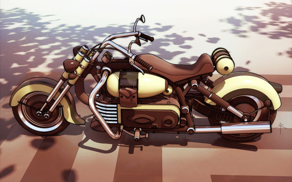 Motorcycles dieselpunk wallpaper