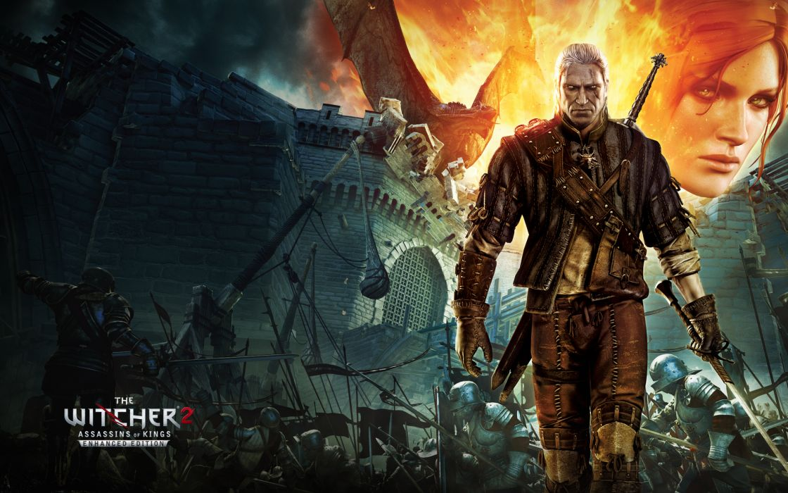 Video games war pc the witcher artwork geralt of rivia the witcher 2 geralt the witcher 2 enhanced edition pc games wallpaper