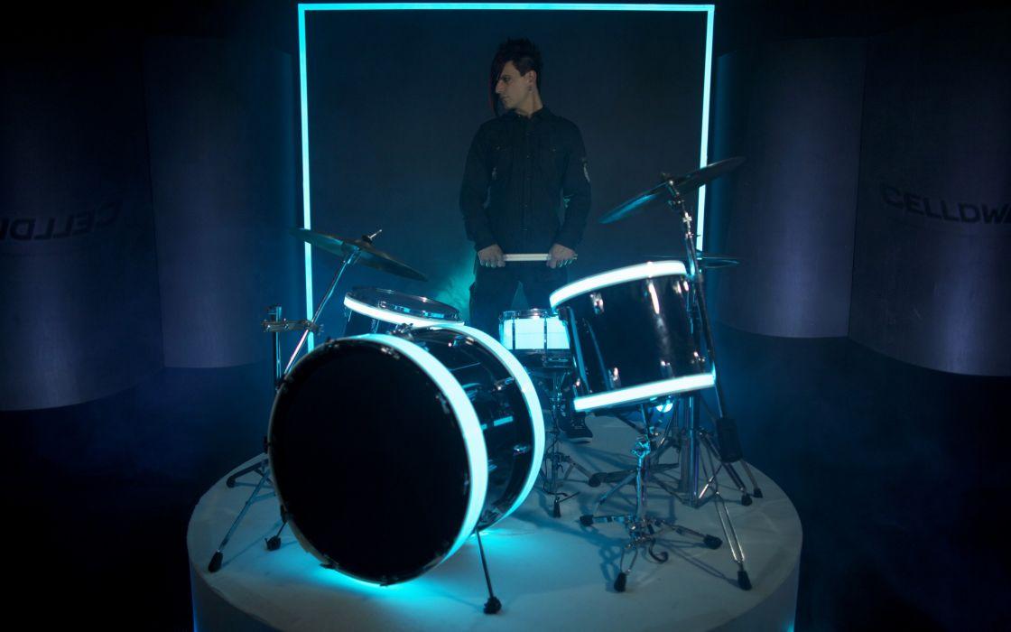 Music drums celldweller musicians klayton wallpaper