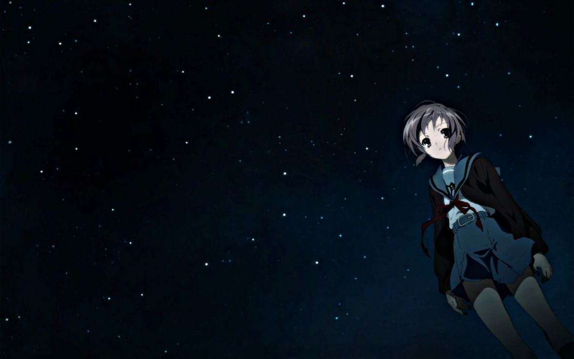 Nagato yuki the melancholy of haruhi suzumiya anime anime girls wallpaper