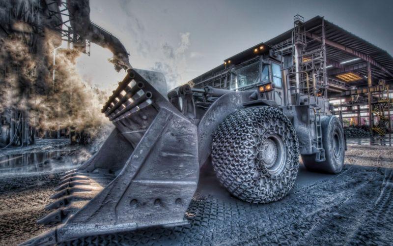 Trucks vehicles bulldozer hdr photography wallpaper