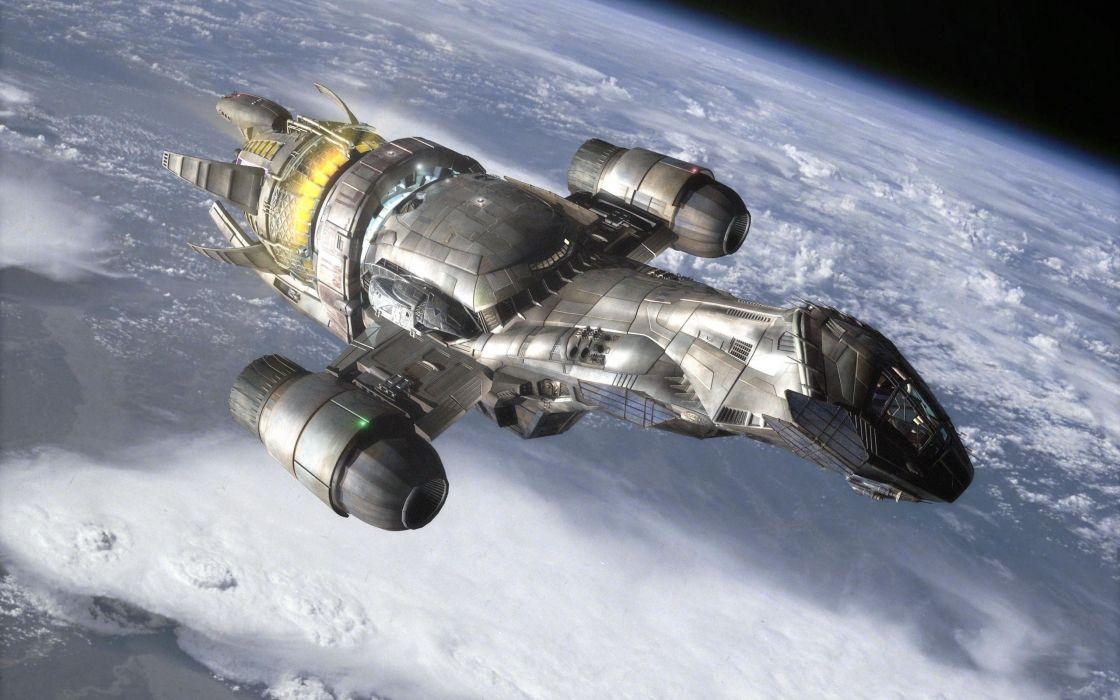 Serenity world firefly spaceships vehicles wallpaper