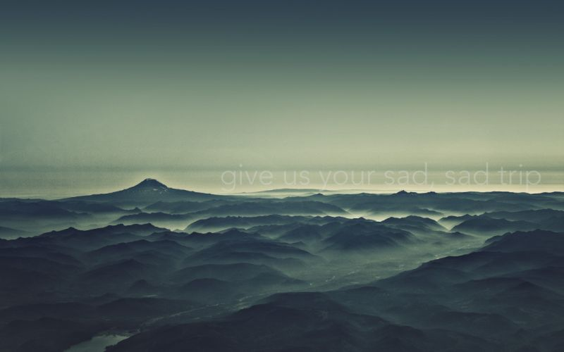 Mountains landscapes sad wallpaper