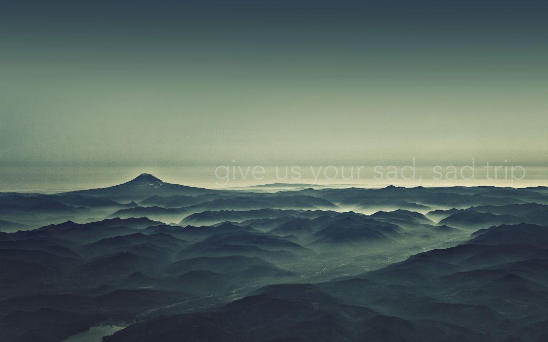 Mountains landscapes sad wallpaper