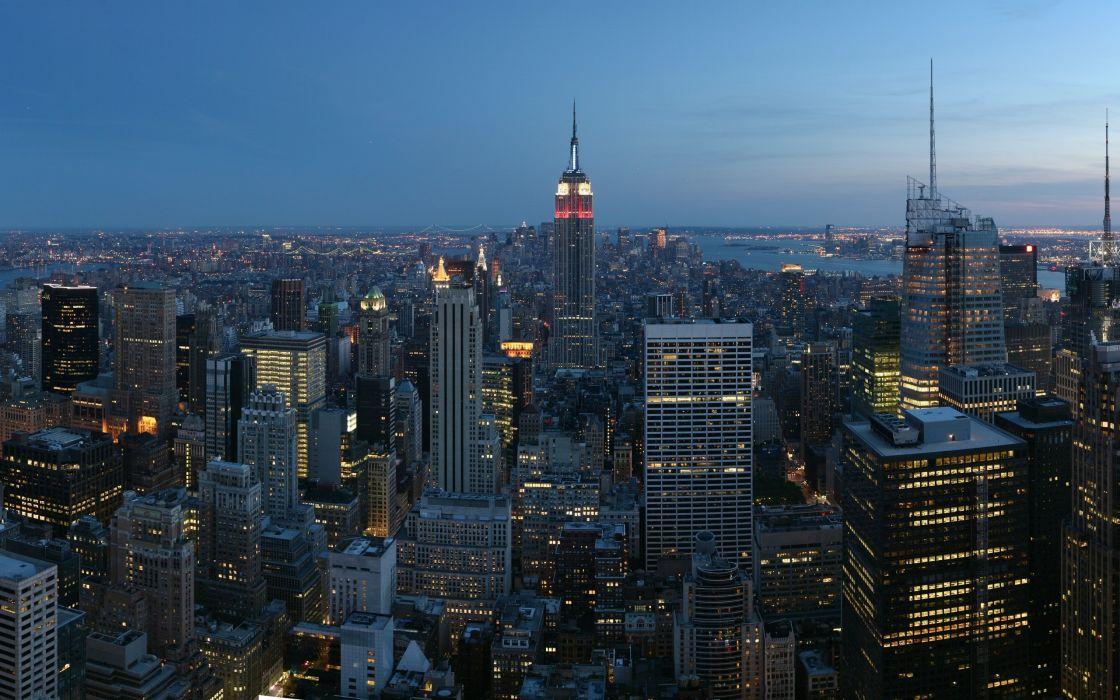 Cityscapes new york city manhattan city skyline wallpaper