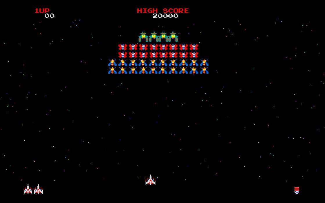 Video games arcade galaga wallpaper
