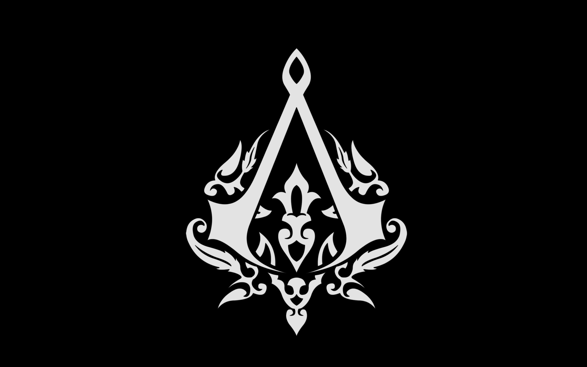assassins creed logo wallpaper 4k