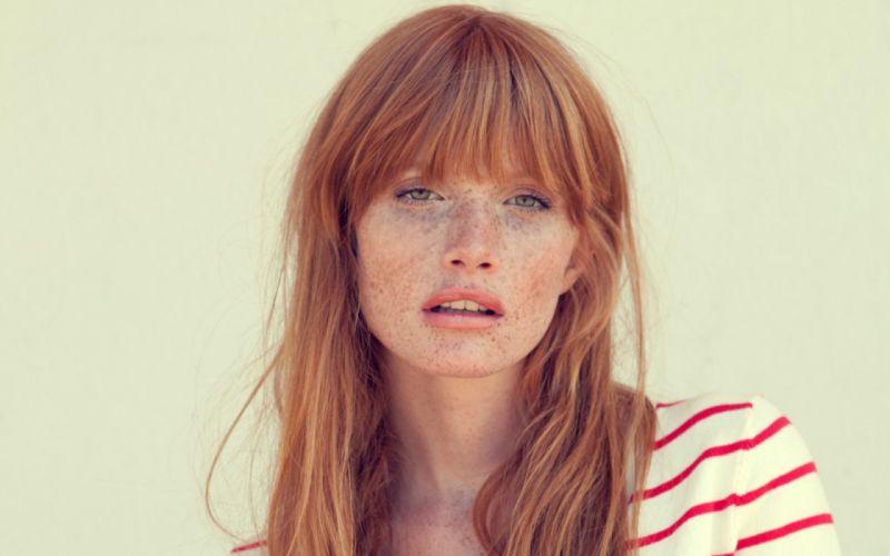 Women redheads freckles faces susanne amanada wallpaper