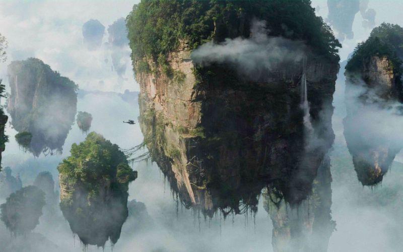 Mountains avatar floating pandora artwork wallpaper