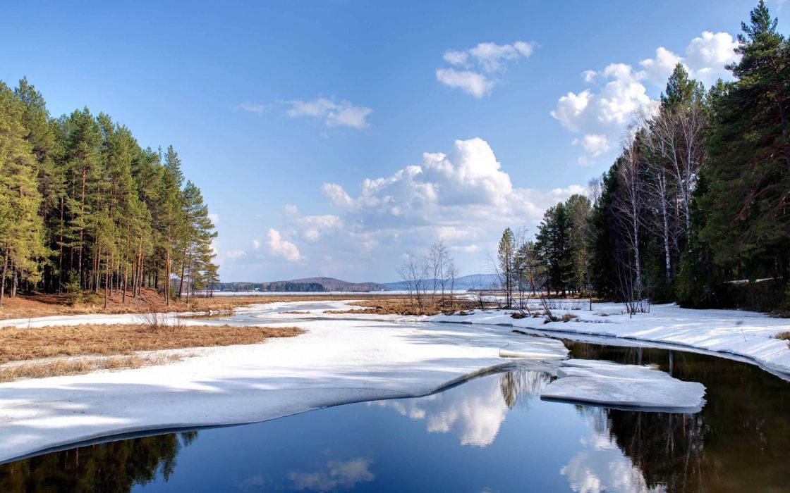 Landscapes winter (season) hdr photography wallpaper
