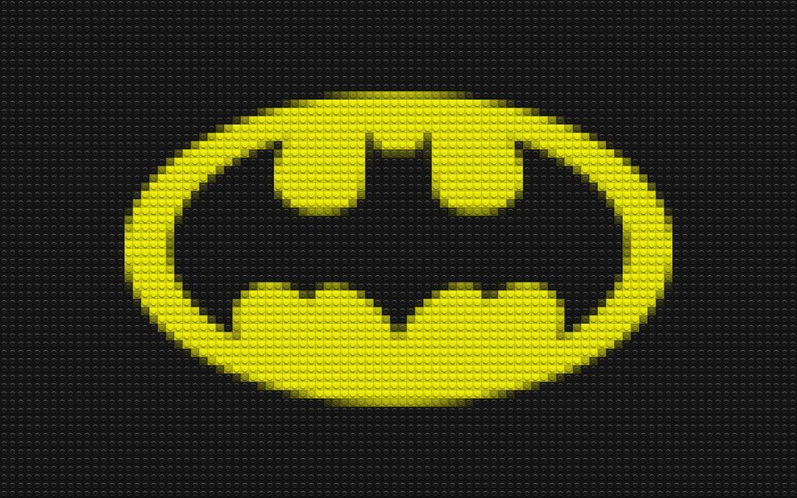 Lego batman dc comics mosaic logos batman logo wallpaper