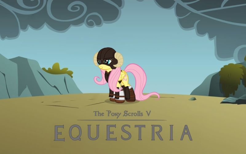 Parody my little pony fluttershy ponies dragonborn my little pony friendship is magic wallpaper