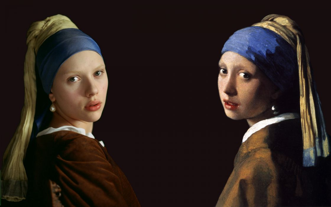 Paintings scarlett johansson artwork johannes vermeer the girl with a pearl earring masterpiece wallpaper
