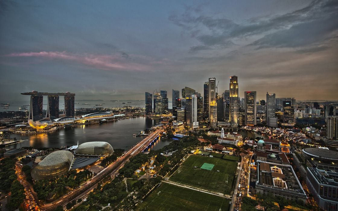 Architecture singapore hdr photography wallpaper