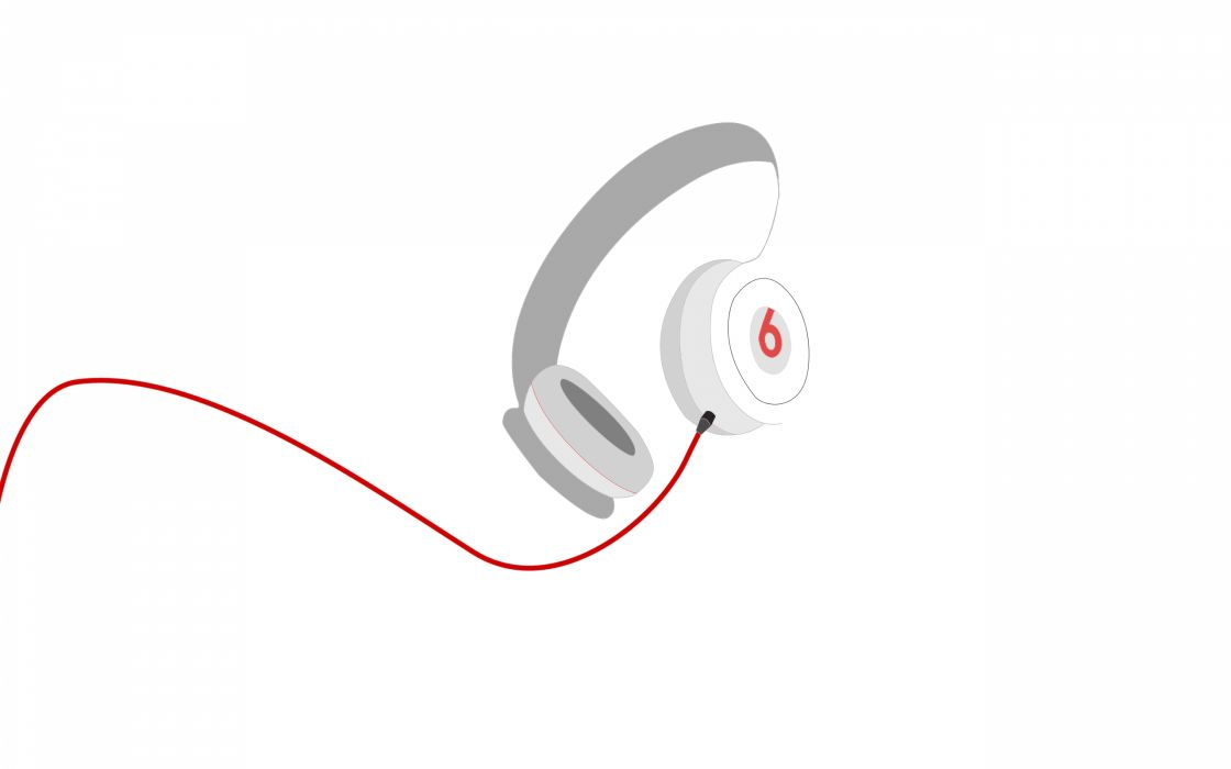 Minimalistic white beats by dr wallpaper