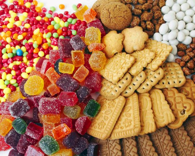 Candy cookies nuts wallpaper