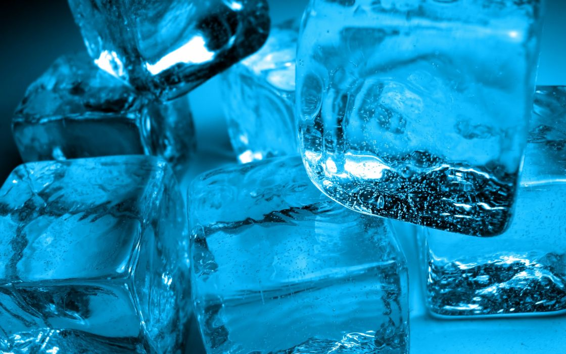 Ice macro ice cubes wallpaper