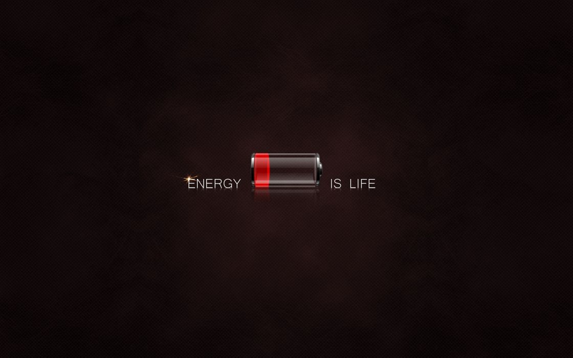 Abstract energy battery battery life wallpaper