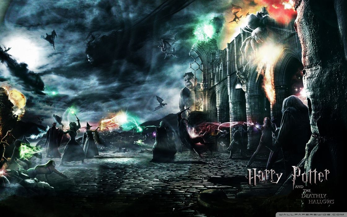 Movies harry potter harry potter and the deathly hallows voldemort hogwarts death eaters wallpaper
