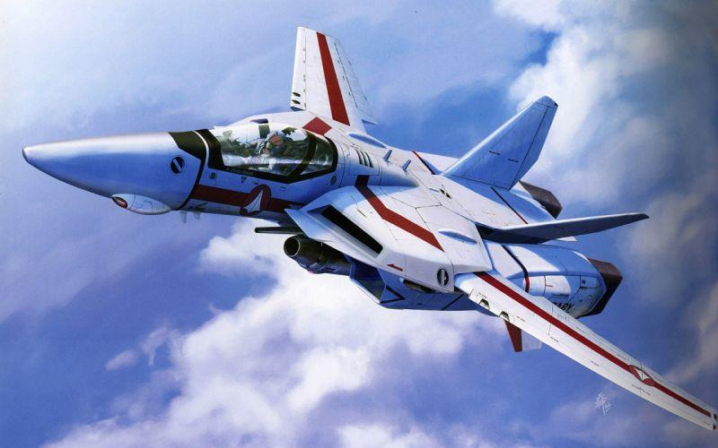 Aircraft macross military valkyrie robotech jet aircraft wallpaper