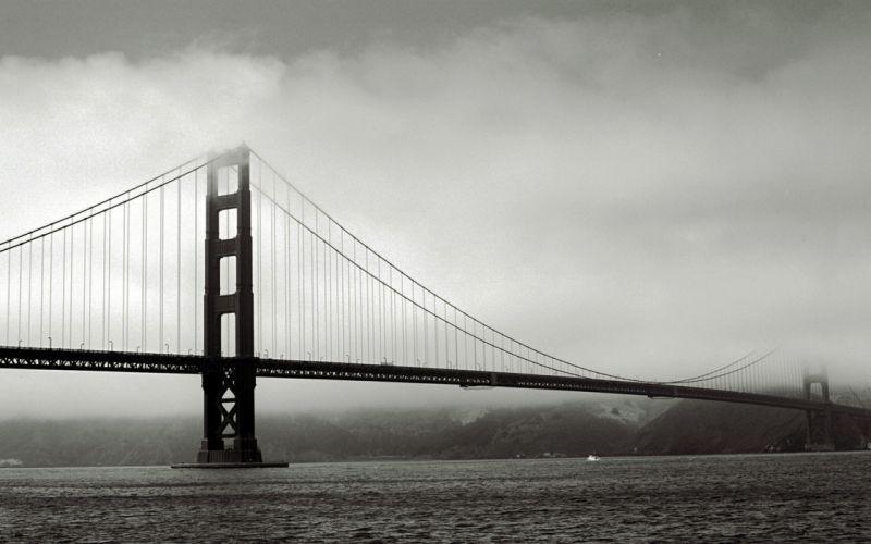 Black and white architecture golden gate bridge san francisco