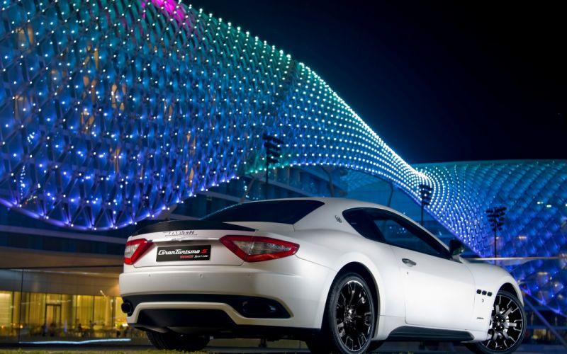 Cars maserati vehicles white cars wallpaper