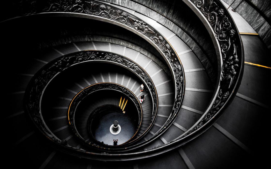 People spiral stairways wallpaper