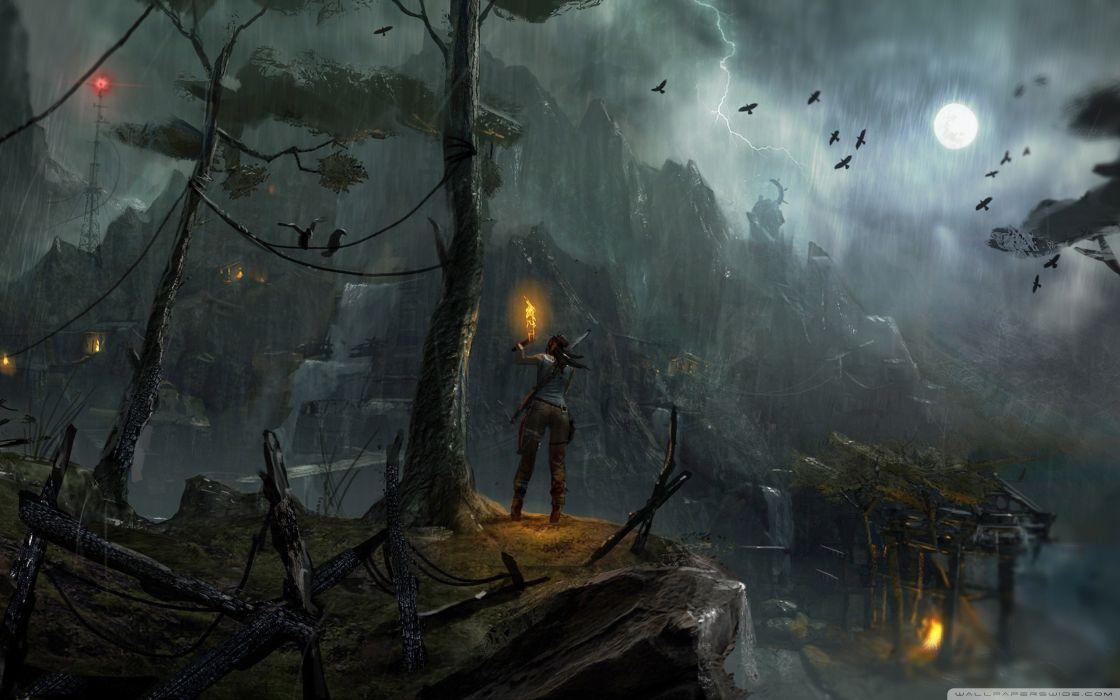 Night tomb raider concept art 2013 wallpaper