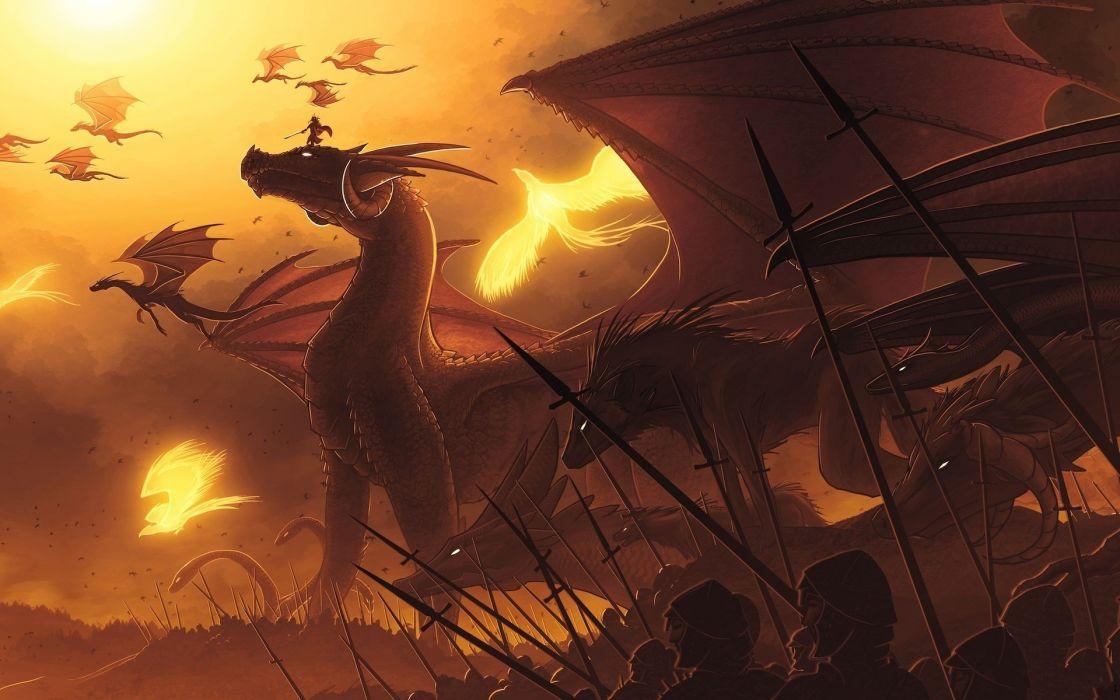 Dragons artwork wallpaper