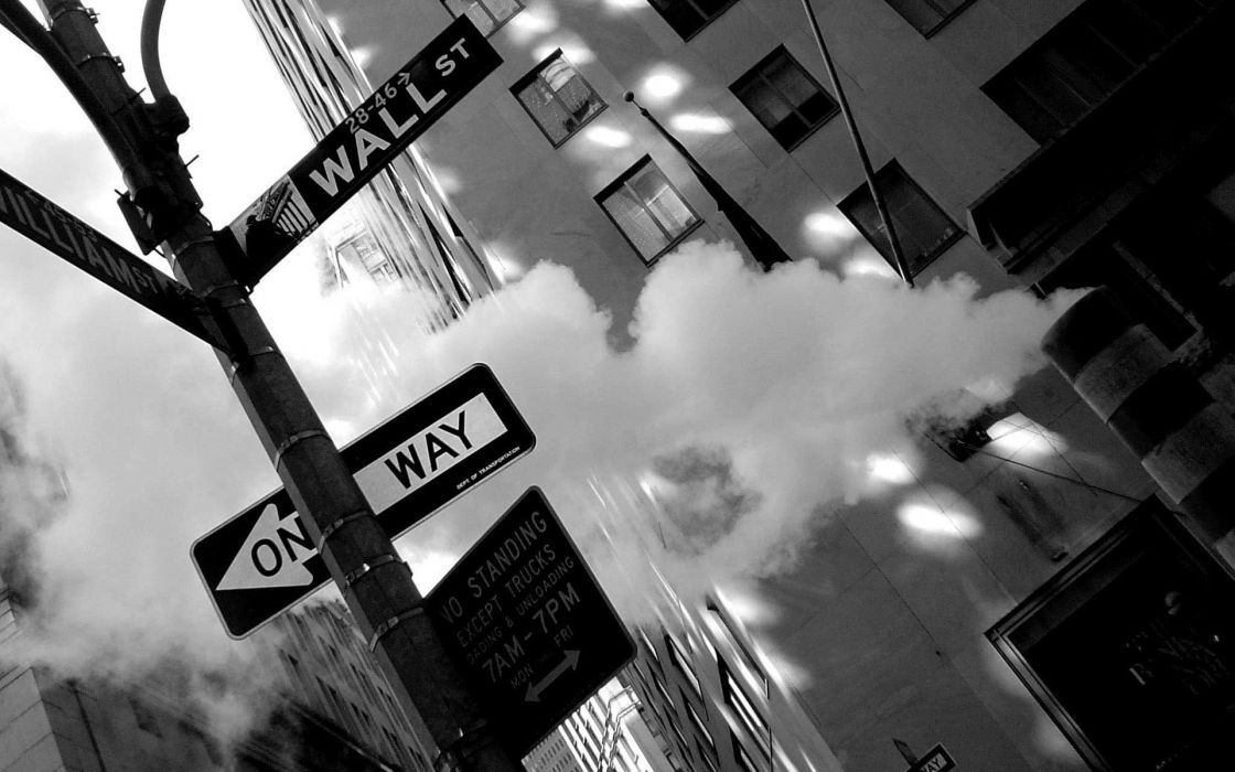 Cityscapes signs urban buildings new york city wallpaper