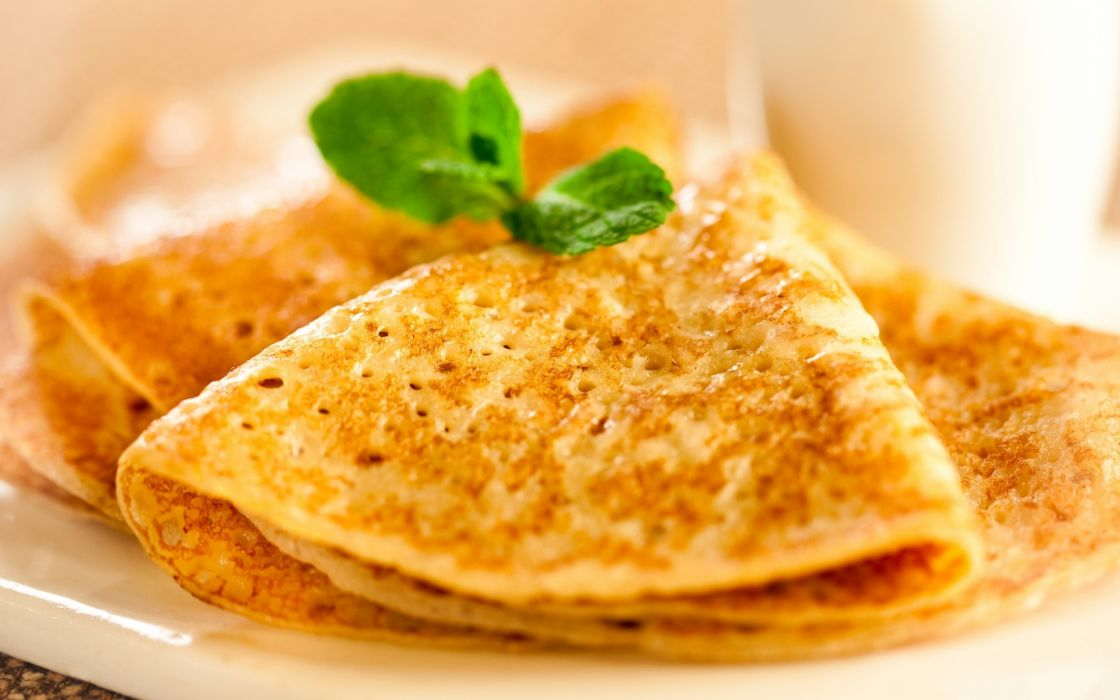 Food macro pancakes wallpaper